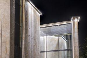 Устройство архитектурно-художественной подсветки фасада Павильона